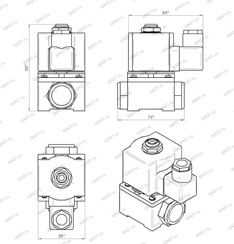 ПК-1М габаритные размеры и чертеж